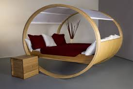 Oval bed.