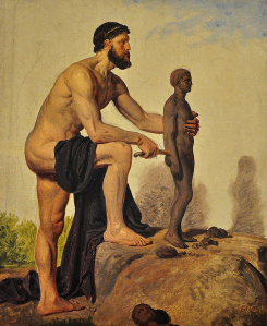 Prometheus creating man from clay